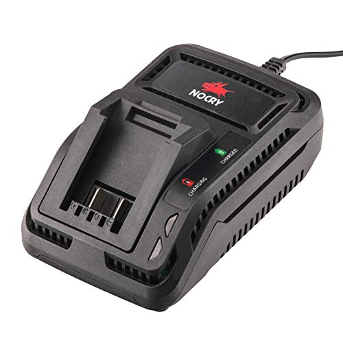 NoCry cargador rápido de batería de 20 V – Cargador sólo para cargar baterías de iones de litio de 20 voltios; 2 Ah por hora de tasa de salida