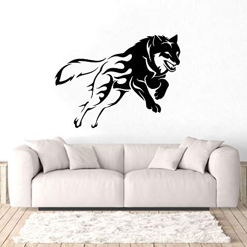 yaonuli Tribal Vinyle Loup Animal Mur Art Autocollant Famille lit Chambre décoration 74x55 cm