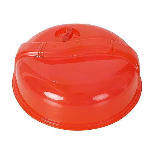 Hunt Gold Couvercle en plastique durable pour micro-ondes - Transparent - 26 cm - Rouge