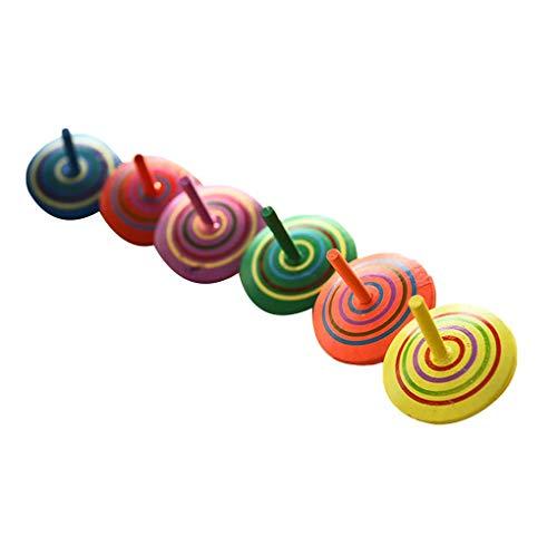 teng hong hui 10pcs Color al Azar niños Regalos de la promoción del giroscopio Regalo 10pcs Kinder Gyro Escritorio descompresión Juguetes de Madera