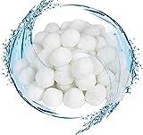 Waczecr Bola de Filtro de Piscina, Material de Filtro para Arena de Acuario, Utilizado en la Piscina, Bomba de Filtro (700 g, Usado para reemplazar el Filtro de Arena de 25 kg) (Color : 1400g)