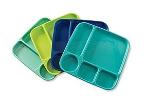 Meal Trays, Set of 4, Coastal Colors