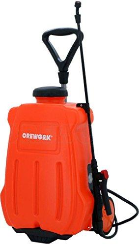Orework 373735 Pulverizador eléctrico Trolley (con Ruedas) 16l, Naranja