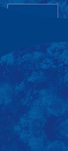 Duni 450055_(1) Bestecktaschen mit Taschentüchern, 8.5 cm x 19 cm, dunkelblau Sacchetto und dunkelblau (100-er Pack)