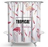 JOVEGSRVA Cortina de ducha con 12 ganchos de 180 x 200 cm, color rosa
