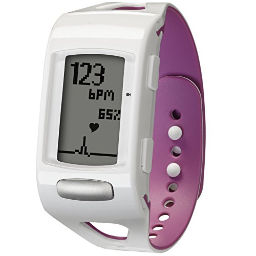 Vita Trak Zona C410 W Fitness Activity Tracker, Unisex, Zone C410W, White/Orchid, N/A