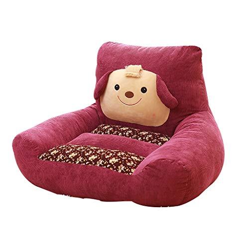 Animal Sofa De Bébé, Douillet Et Moelleux Canapé Garçon Fille Accoudoir Chaise Mini Pouf Poire 5 Couleurs (Color : Burgundy)