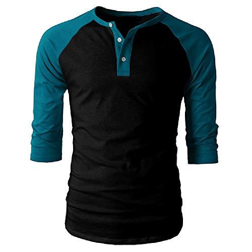 Camiseta de manga corta para hombre de Europa y los Estados Unidos de América Explosive Tops camiseta Europa y los Estados Unidos de América Camisetas de comercio exterior Henry Camisas Color 2 XL