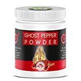 Smoked, Ghost Chili Pepper Powder (Bhut Jolokia) -16 Oz (454 gm) , 100% PURE, NON GMO,NO PRESERVATIVE, NO ADDITIVE ) Organically Grown