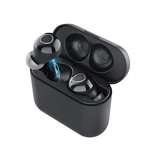Fone de ouvido TWS Bluetooth 5.0 Sem Fio Intra-Auricular Langsdom T9 earbuds Esportivo Á Prova D'água IPX5 com microfone HD (Preto)