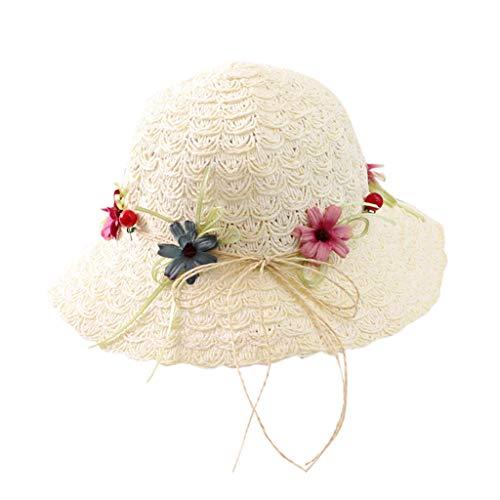 FRAUIT kinderparaplumuts, zomerhoed, brede randen, UV-bescherming, 50 strohoed, zonweringhoed