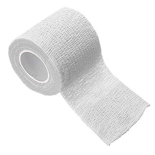 LOOEST Haute qualité 2,5/5 / 7.5/10 / 15cm Auto-adhésives Bandage First Aid Kit Sport Body Gaze Vétérinaire Bande de sécurité de Protection d'urgence pour Poignet, Cheville