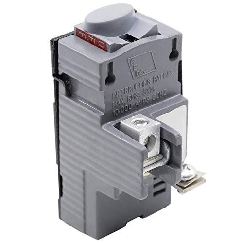 Connecticut Electric UBIP120 Pushmatic Circuit Breaker, 20 amp, Gray