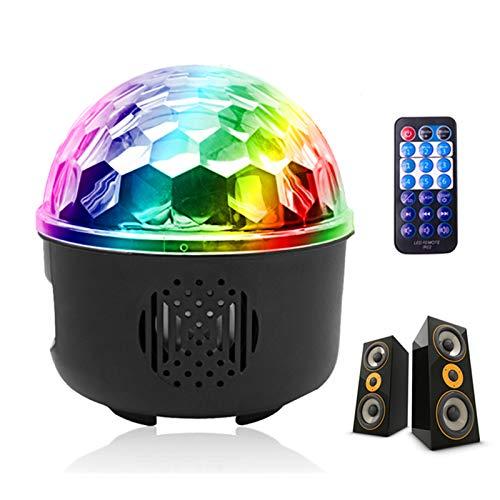 UKing Luci Discoteca Mini USB Alimentata LED Luci Discoteca con Bluetooth Musica Attivata Telecomando 7 Modalità Illuminazione del Proiettore per della festa di compleanno di Natale