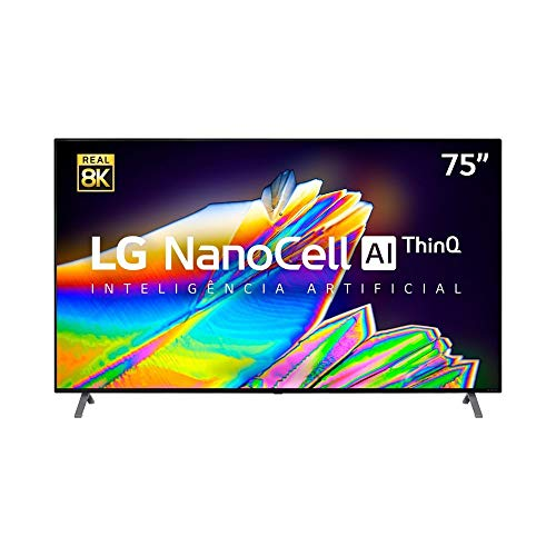 Smart TV 8K LG LED 75 com IPS NanoCell, Dolby Atmos e Wi-Fi - 75NANO95SNA