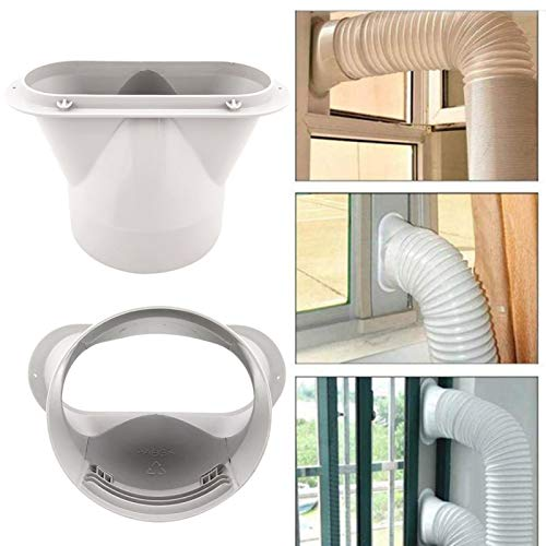 Walbest Conector de boca plana, conector de tubo de mangueira de exaustão de 13 cm para kit de janela de ar condicionado portátil - 13 cm