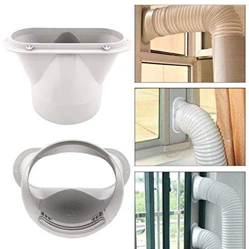 Conector de boca plana, conector de tubo de escape de 13 cm para aire acondicionado portátil, kit de ventana, placa – 13 cm