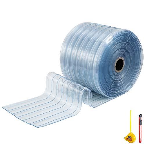 Gaskets and Strip Curtains PVC Vinyl Strip Curtain Door Bulk Roll 75 Roll 6 x .06 PVC Material
