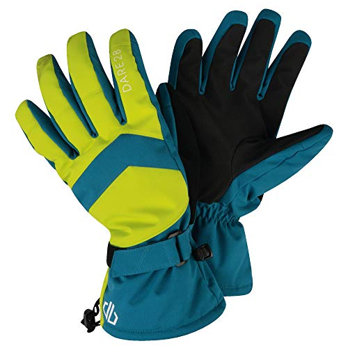 Dare 2b Herren Probity Waterproof Breathable Insulated Ski Snowboard Winter Glove with Gripped Palm and Thumb Handschuhe Kinder, Ocean Tiefen/Citron Lime, L