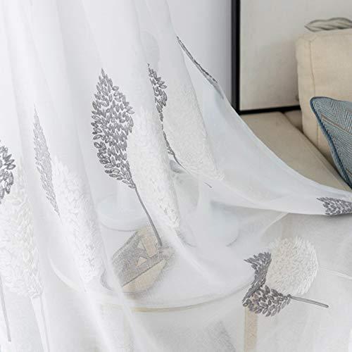XGXQBS 1 gordijn, gordijn, geborduurd, doorschijnend, voor woonkamer, slaapkamer, vensterbanken 250x270cm(98x106inch) Oro rosa + oro rosa