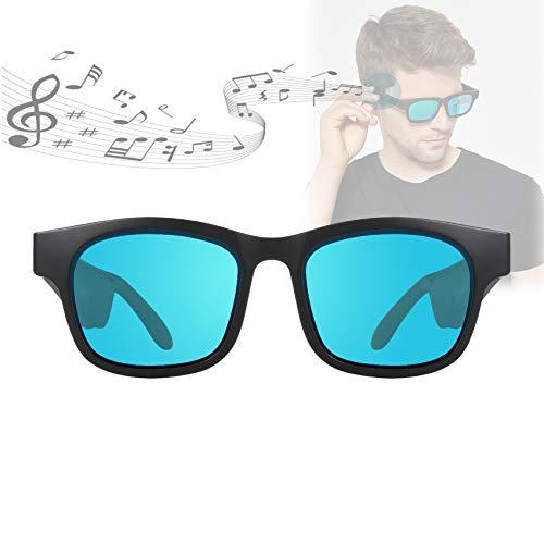 ORPERSIST Gafas de Sol Mujer, Gafas Espia Voz Inteligente Bluetooth de Alta Velocidad Lentes Polarizadas Escuchar Música, Gafas Bluetooth para Apto para Todas Las Formas Faciales,Verde