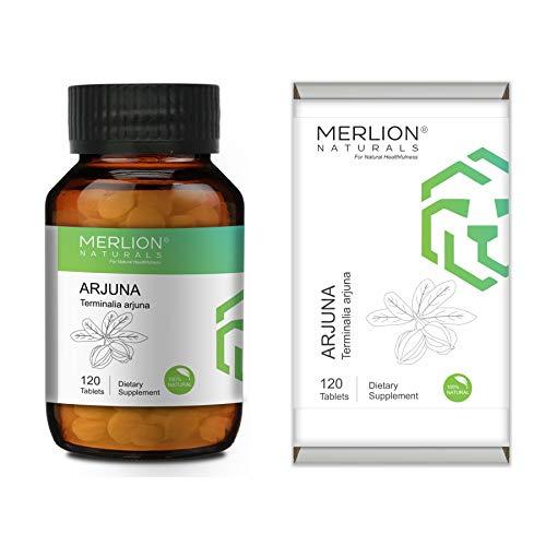 Merlion Naturals Arjuna Tablets Terminalia arjuna, All Natural, Pure Herbs 500mg x 120 Tablets