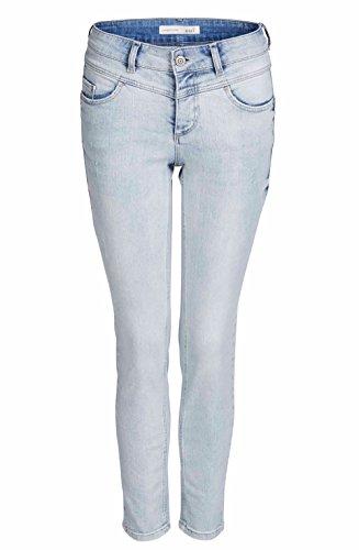 Oui Jeans Stone Washed Gr. 40, Hellblauer Denim