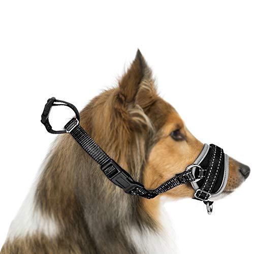 Nasjac Museruola per Cani, aggiornamento più Confortevole Impedire di mordere abbaiare Addestramento comportamentale da Masticare Coprivaso per Cani Regolabile in Nylon Morbido Riflettente Regolabile