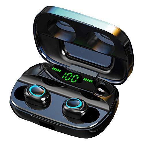 Luisport Auriculares Bluetooth Auriculares inalámbricos Bluetooth con Microfono y con Caja de Carga