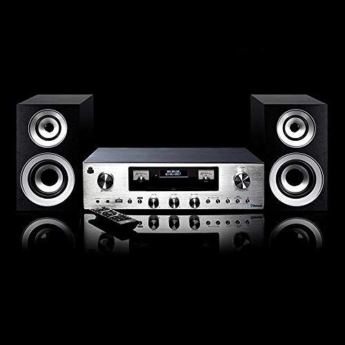 GPO Retro PR200 sistema de audio para el hogar Minicadena de música para uso doméstico Plata 12 W - Microcadena (Minicadena de música para uso doméstico, Plata, 12 W, DAB,FM, LCD, 3,5 mm)