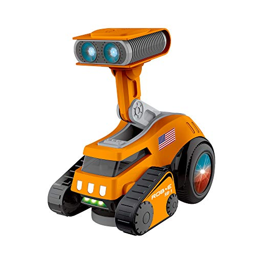 Contixo R5 Rob-E Electronic Robot PRL with Dances, Plays Music and Songs, Light Up Shine Eyes, Volume Adjust, Lifts and Rotates, Gift for Kids, Toddlers, Boys and Girls Walle