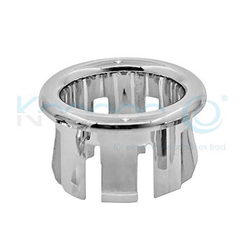 Waschbecken Design Überlauf Abdeckung, Überlaufblende - KNOPPO Set - 2 x Ring (chrom)