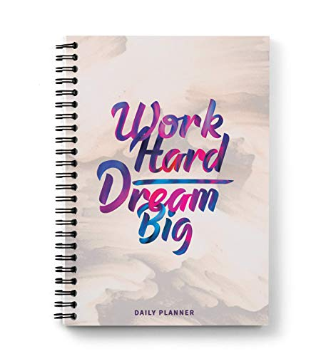 Sprout - Daily Planner; A5 Size; Undated; 200 Pages / 100 Sheets; Work Hard Dream Big