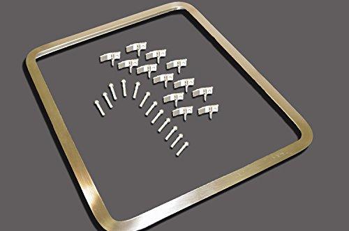 Vance Stainless Steel Sink Frame (Hudee Rim) for 20 x 30 inch Rectangular Sink