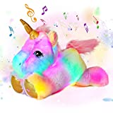 Cuteoy Musical LED Plush Unicorn Light up Stuffed Animal Night Lights Singing Glow in The Dark Lullabies Birthday Gifts for Kids Sing Songs, 13'' (Unicorn)