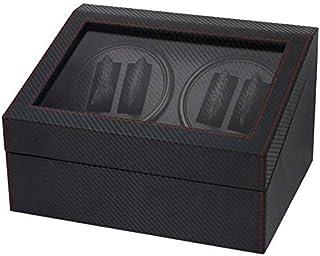 Carbon Fiber Automatic Watch Winder Storage Box Case 4 plus 6 Pcs