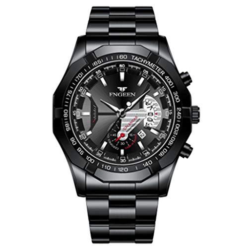 PIANAI 2021 Reloj para Hombre/Reloj de Cuarzo Resistente al Agua/Reloj de Esfera Grande/Reloj con Calendario de Concepto súper Nuevo,C