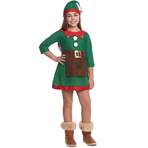 Partilandia Disfraz de Elfa niña Infantil para Navidad (10-12 años)