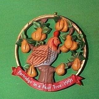 partridge in a pear tree hallmark keepsake Christmas tree ornament 1991 QX5297