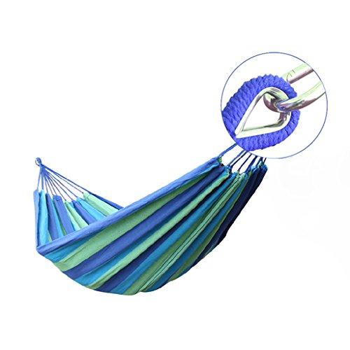 JGWHW Lit pivotant en Coton pour terrasse, Jardin, terrasse ou Jardin - Usage intensif, léger et Portable - Intérieur (Couleur : Bleu)