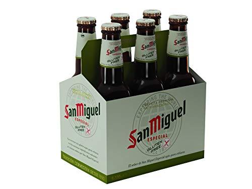 San Miguel - Especial Sin Gluten Cerveza Dorada Lager, 5.4% Volumen de Alcohol - Pack de 6 x 33 cl
