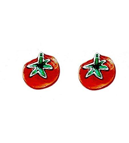 Red Tomato Stud Earrings