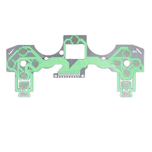 YuYue Tarjeta de Circuito de Cinta de 2 Botones Compatible con PS4 Dualshock 4 Pro Controlador Delgado Película conductora Teclado Cable Flexible PCB Verde (JDS-001/011)