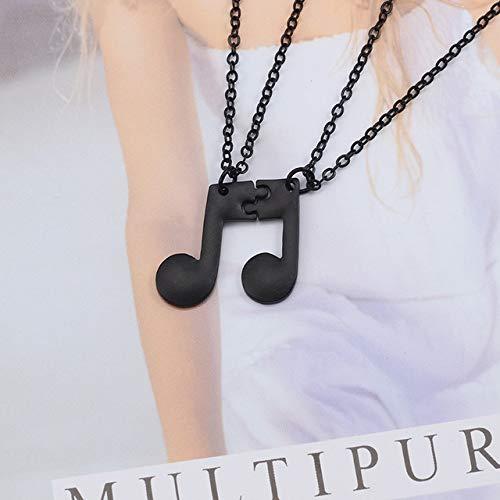 2 Unids/Set Collar De Mejores Amigos para Mujeres Niñas Nota Musical Collares De Oro Amistad para Siempre BFF Encanto Regalos