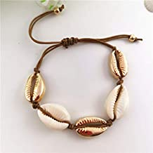 Cowrie Shell Necklace Fashion Gold Color Cowrie Shell Choker Necklace Women Statement Collier Punk Bead Rope Chain Necklace 2019