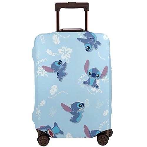 Funda protectora para maleta Lilo de dibujos animados, lavable, diseño de impresión 3D, 4 tamaños para la mayoría de equipaje con cremallera