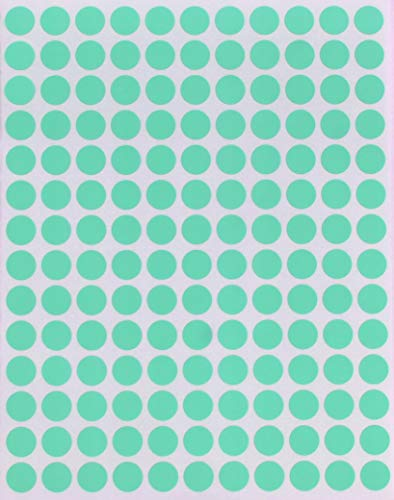 Sticker 10 mm runde Aufkleber - Größe 1 cm Klebepunkte von Royal Green (Pastell Grün, 2100)