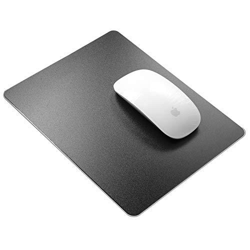 Tapis de souris en résine rigide Vaydeer - Tapis de souris en résine - Double face - Étanche - Pour jeux et bureau - Petit - Noir