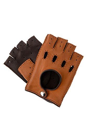 Der Lederhandschuhmacher Gants de voiture, mitaines, en cuir de cerf véritable - marron - Large