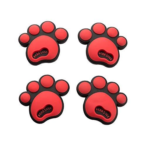 RAP Auto deur anti-botsing bar opening deur bescherming anti-scratch scratch universele leuke hond voet decoratie dikke anti-botsing sticker hond voet anti-botsing sticker [rood] 4 pack